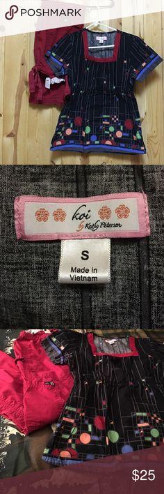 Koi Scrub Set Small Top Small Regular Pant GUC Koi Scrub Set Small Top Small Regular Pant GUC Top has two side pockets Elastic Waist Pant Koi Lindsey Koi Other