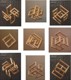 David Bergman, Art + Design What's Art ? Geometric Sculpture, Abstract Sculpture, Wood Sculpture, Sculptures, Sculpture Ideas, Cube Design, Art Design, Wood Design, Geometric Designs