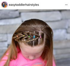 These hair-styles represent fairly simple and are a great option for novices, fast and simple toddler hair styles. Easy Toddler Hairstyles, Fishtail Hairstyles, Baby Girl Hairstyles, Natural Hairstyles For Kids, Fancy Hairstyles, Natural Hair Styles, Little Girl Hairdos, Girls Hairdos, Hair Jazz