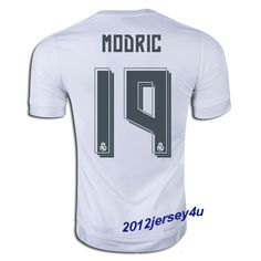0cf03902637 Luka Modric  19 Real Madrid 15 16 Home Jersey Soccer Jerseys