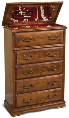 Alder Hill jewelry chest. The top lifts up to reveal a hidden compartment.