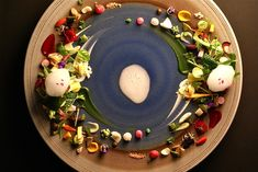 "Hajime restaurant in Osaka, Japan, aims higher with a signature plate called chikyu, which translates to ""earth."""