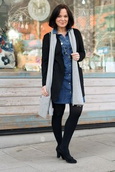 Another alternative for lovers of denim! Looks fun and stylish http://www.over50feeling40.com #fashionoverfifty