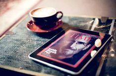 Original Apple iPad with Steve Jobs Edition of Time Magazine. Ikea Hacks, Martha Stewart, Fixer Upper, Polaroid Printer, Hickory Kitchen Cabinets, Desk Layout, Kitchen Layout, Budget, Kitchen Styling