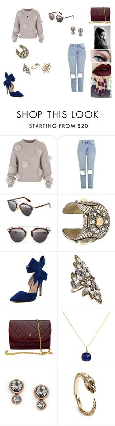 """""""&"""" by ohbabyimrachel ❤ liked on Polyvore featuring TIBI, Topshop, Christian Dior, WithChic, Accessorize, Chanel, Elizabeth Raine, FOSSIL, Pamela Love and Rebecca Taylor"""