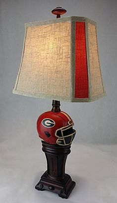 SHOUT FOR YOUR NEW COACH AND GREAT RECRUITING WITH A LAMP OR SET OF LAMPS ..GREAT FOR YOUR HOME. JUNIOR SIZE 24 INCH WITH GREAT LINEN SHADE..