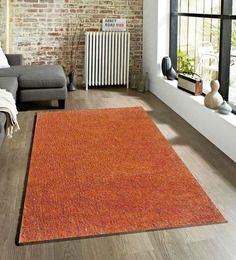 Sofiabrands Area Plain Orange Hand Tufted Rugs