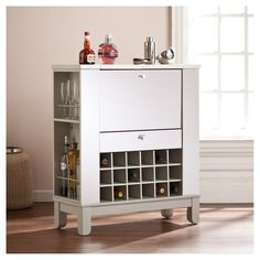 Monroe Mirrored Fold - Out Wine/Bar Cabinet - Aiden Lane - image 2 of 8