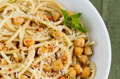 Pasta with Chickpeas and Mint