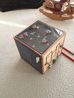 Homemade Activity cube. Wow!