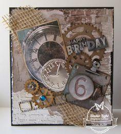 Verjaardagskaart voor mijn Vader gemaakt door Christa Mulder