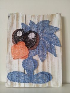 Flamingo Monkey Mermaid Phoenix Blue Bird String Art On Whitewash Boards