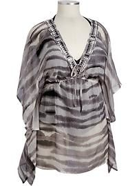 This Old Navy Beaded Chiffon Caftan would be great over a bathing suit or out for a date or girls night out and at $40 it's a STEAL!