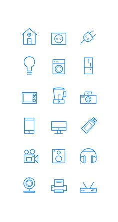 "Check out this @Behance project: ""Icon set - House Items"" https://www.behance.net/gallery/43051779/Icon-set-House-Items"