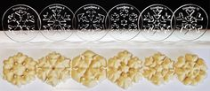 Snowflakes Two 6 Disk Set for Cookie Presses (SIZE M disks for presses that came with METAL disks) Product Features Cookie press disks in 6 fun designs: Snowflake Snowflake Snowflake Snowflake Snowflake . Candy Cane Cookies, Spritz Cookies, Snowflake Cookies, Christmas Cookies, Cookie Press, Baking Supplies, Baking Tools, Baking Ideas, Honey Recipes