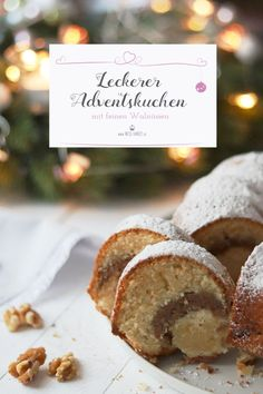 Most current Images Advent cake with walnuts perfect for the Christmas season. Tips Advent cake with walnuts perfect for the Christmas season. Fall Dessert Recipes, Fall Recipes, Cookie Recipes, Snack Recipes, Sweet Bakery, Cupcakes, Fancy Desserts, World Recipes, Fabulous Foods