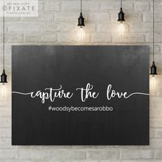 Capture The Love Blackboard Decal Chalkboard Sitcker Custom Hashtag Vinyl Decal Sign Wedding Signage Decal Photo Sign Calligraphy Decor by FixateDesigns on Etsy