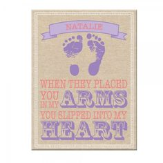 18x24 Canvas - Burlap Hearts Girl - Let this beautiful burlap-inspired canvas print serve as a daily reminder to your little girl of just how much she is loved.