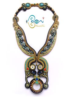 ソウタシエ・ネックレス Soutache Necklace by KaoriNa. - Papilio Zipper