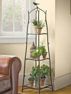 What is a plant stand? Plant stand is an ornamental element that helps you display your interior or outdoor plants on a beautiful platform. Plants stands come in a range of sizes, forms, . Read Best Plant Stand Ideas for Your Own Forest Indoor Plant Wall, Indoor Garden, Indoor Plants, Home And Garden, Indoor Plant Stands, Leafy Plants, Tall Plants, Garden Cottage, Herb Garden