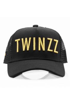Twinzz - Trucker Snapback - Black/Gold | Have you seen the latest snapbacks from Twinzz now available @ Urban Celebrity!? The only question is - which to choose? It's a toughie...