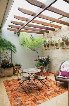 New Small Pergola Patio Gardens Ideas Small Pergola, Pergola Patio, Small Patio, Backyard Patio, Backyard Landscaping, Pergola Kits, Pergola Ideas, Backyard Garden Design, Balcony Design