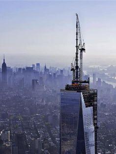 One World Trade Center, NYC - Via NYonAir.com