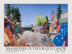 2014 sisters quilt show poster