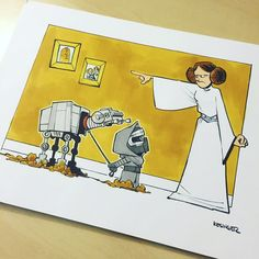 Disney Illustrator Combines Star Wars And Calvin & Hobbes, And The Result Is Adorable