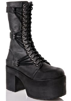 576e88ff3 Current Mood Straight Laced Leather Boots Heeled Boots