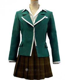 Rosario and Vampire Akashiya Moka Green Uniform Cosplay Costume $65.99 - Anime Cosplay - Cosplay Costumes - Trustedeal.com