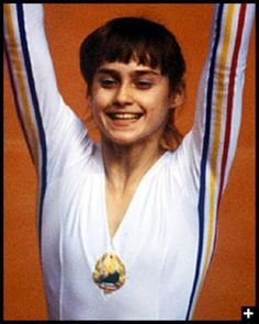 World Famous People Nadia Comaneci When Nadia was about 14 she scored the first perfect 10 at the Olympics in Women's Gymnastics. She wa. Those Were The Days, The Good Old Days, 1976 Olympics, Nadia Comaneci, Nostalgia, My Youth, World Famous, Thing 1, Women In History