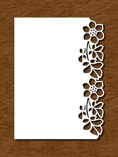 OVER THE EDGE FLORAL BORDER 6 - SVG, PDF by Apetroae Stefan In svg and pdf format, with optional backing plate