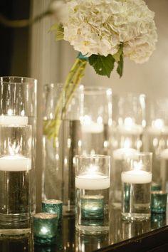 I like the floating candle decor...
