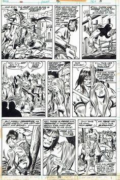 Conan le barbare est un gentleman John Buscema Joe Sinnot Roy Thomas Robert E. Comic Book Pages, Comic Page, Comic Books Art, John Buscema, Drawing Sketches, Pen Drawings, Frank Frazetta, Conan The Barbarian, Sword And Sorcery