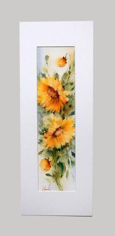 100 % de l'eau original couleur peinture  CE NEST PAS UNE COPIE  Peinture originale de l'artiste persan Hadi avec plus de 15 ans d'expérience dans les aquarelles.  Peinture est 20 x 5 de 5 pouces  Arches peintes sur papier et feutrés. Avec un tapis taille totale est de 25 x 10