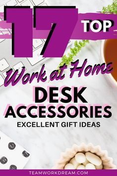 Find the ideal home office desk accessories to dress up your work area. Work at home with confidence with these wonderful looking and useful gizmos and gadgets for your home office desk. #homeoffice #homeofficedesk #homeofficeaccessories #homeofficeideas #workathomeideas #workfromhomegiftideas #giftideas #homeofficegiftideas Best Home Office Desk, Home Desk, Home Office Space, Cool Desk Accessories, Home Office Accessories, Online Work From Home, Work From Home Tips, Office Ideas, Office Decor