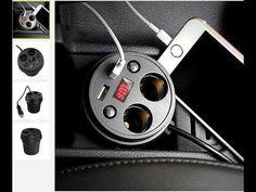 Regbnm Автомобильное зарядное устройство в подстаканник на 2 USB