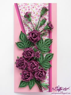 Paberipalavik: Quilling ja roosid Paper Fever: Quilling and Roses - Quilling Flowers Tutorial, Paper Quilling Flowers, Paper Quilling Designs, Quilling Paper Craft, Paper Crafts Origami, Quilling Patterns, Paper Roses, Flower Tutorial, Paper Crafting