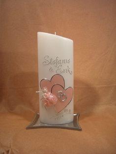 Wunderschöne Hochzeitskerze 402 von KerzenundGeschenke auf DaWanda.com