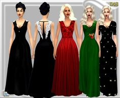 Wing Gown at Dreaming 4 Sims via Sims 4 Updates