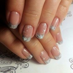 73 The Latest Nails Art Design Ideas for Christmas 2018 - Christmas nails Xmas Nails, Holiday Nails, Christmas Nails, Winter Nail Art, Winter Nails, French Nails, French Manicures, New Years Eve Nails, Christmas Nail Art Designs