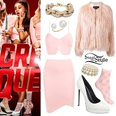 "Ariana Grande in the ""Scream Queens"" Promotional Photoshoot - photo: arianaphotos Girly Outfits, Mode Outfits, Fashion Outfits, Womens Fashion, Ariana Grande Outfits, Jack Nicholson, Scream Queens Fashion, Scream Queens Costume, Estilo Grunge"