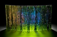 Mystic Forest 1 Kiln formed glass by Cathryn Shilling