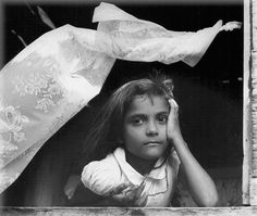 "Wolf Suschitzky:  Girl at Window,Trinidad, 1960  ""This is one of my favourite pictures. The dreaming girl and the moving curtain make it for me.""- WS"