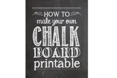 chalkboard font design - Google Search