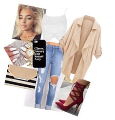 """""""Classy with Pants!!"""" by omiqueonlife ❤ liked on Polyvore featuring Topshop, Stella & Dot, Casetify, Kate Spade and hopeyalike"""