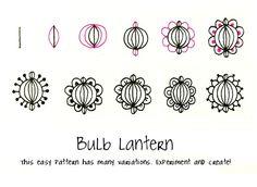 Bulb Lantern zentangle pattern