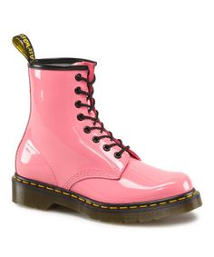 Look what I found on #zulily! Acid Pink Leather Boot by Dr. Martens #zulilyfinds