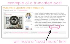 how and why too truncate your blog posts